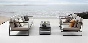 Salon De Jardin Acier : salon de jardin bains de soleil et poufs 20 meubles lounge ~ Teatrodelosmanantiales.com Idées de Décoration