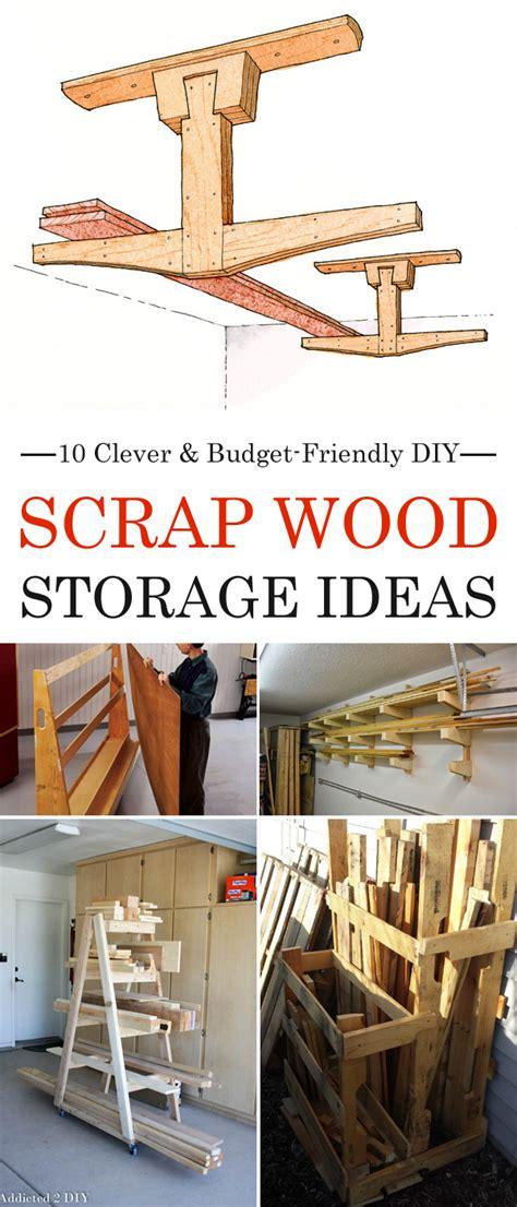 clever budget friendly diy scrap wood storage ideas