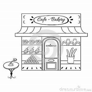 Cafeteria Building Coloring Pages