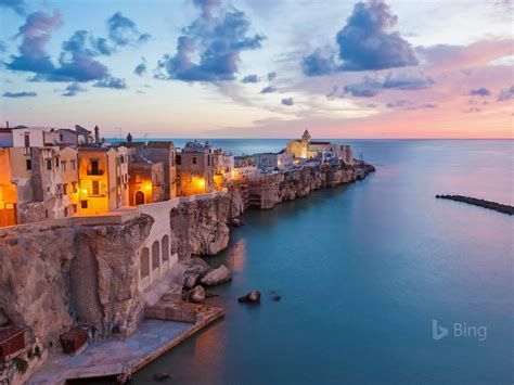 vieste adriatic sea italy bing wallpaper