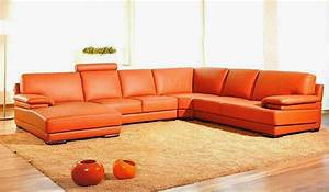 good looking orange leather sofas you must have charming With orange leather sofa