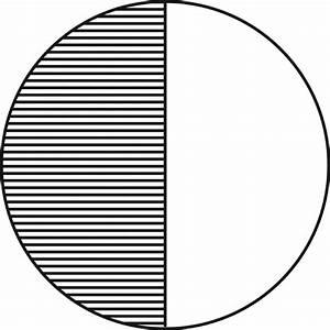 Circle, 1/2 Fraction | ClipArt ETC