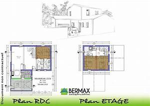 plan maison etage moderne mc immo With plan de maison etage
