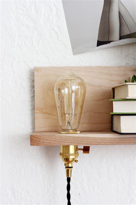 light wood shelves diy floating shelf with built in light coco kelley