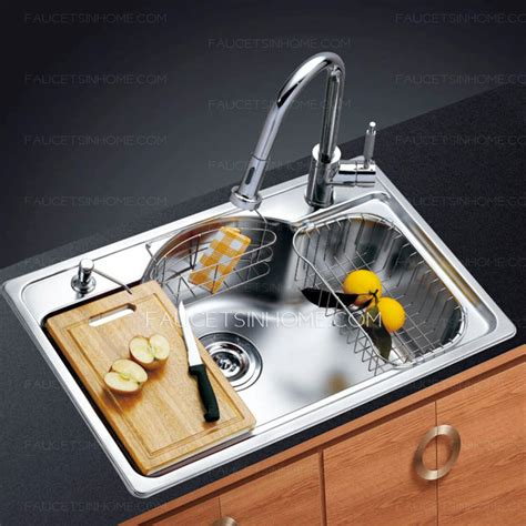 high end stainless steel kitchen sinks high end single bowl large capacity nickel brushed 8381
