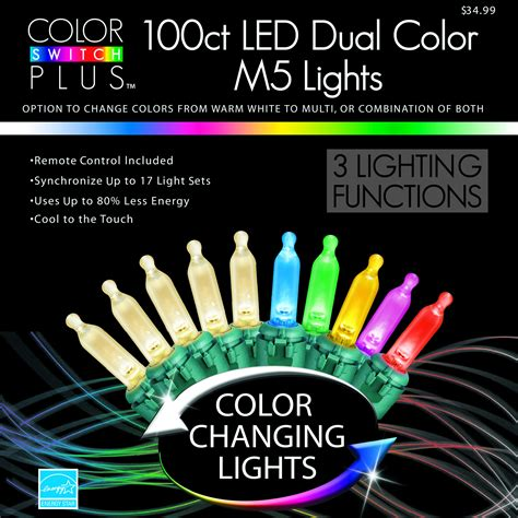 color switch plus dual color m5 led christmas lights sears