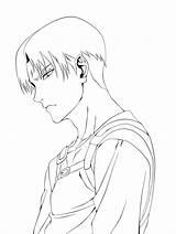 Levi Coloring Ackerman Printable Anime sketch template