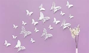 3d Schmetterlinge Wand : wandtattoo 3d schmetterlinge wei mit muster ~ Whattoseeinmadrid.com Haus und Dekorationen