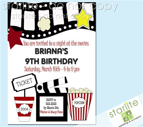 printable kids birthday party invitations templates