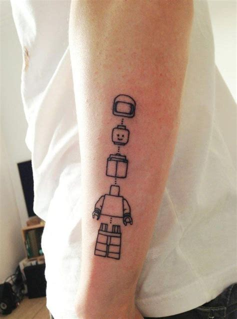 lego man tattoo idea