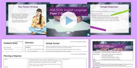 Download the ctet question papers pdf 2021 in hindi and english along with the answer key for paper 1 and paper 2 from the direct official link here. AQA Language Paper 2 Question 5 Lesson Pack (teacher made)