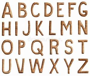 wooden alphabet letters are made of scratched wood stock With letters made of wood