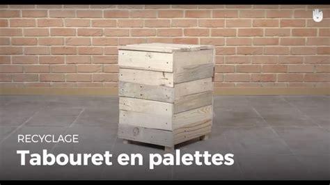 fabriquer un tabouret pouf en bois de palette recycler