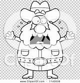 Prospector Coloring Cartoon Freaking Miner Chubby Outlined Clipart Cory Thoman Clip sketch template