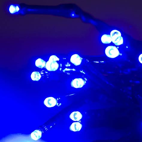 noma 1 9m length of 25 blue indoor static led battery