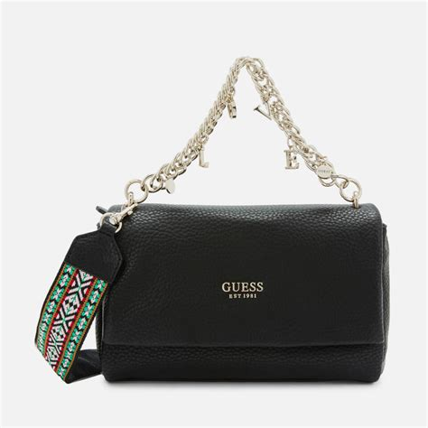 guess womens conner shoulder bag black womens