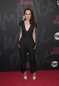 Michelle Dockery in Monse Pinstripes from Spring 2017 - Vogue
