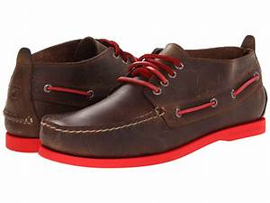 Sperry Top Sider A O Chukka Neon Dark Brown Red 6pm