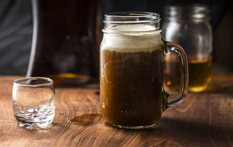 Beary combines three types of rum with madeira and shakes it with coffee liqueur for a hint of bitterness and sweetness. Snow on Sand: Hot Coffee Cocktail w/rum, orange liqueur, and amaretto cream — Recipe Fiction