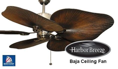 how to install harbor breeze ceiling fan harbor breeze baja ceiling fan