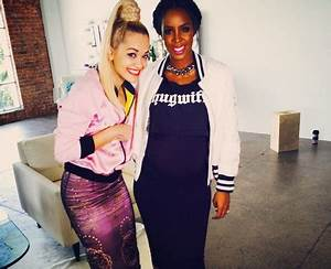 Rita Ora poses for a picture with pregnant Destinys Child ...