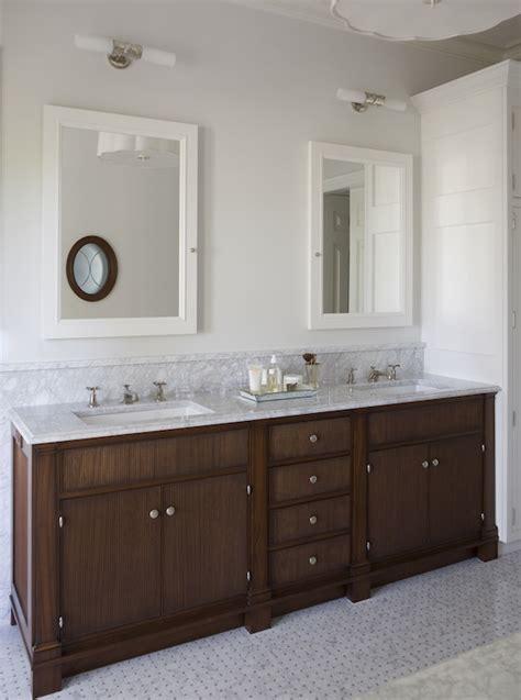 White Framed Medicine Cabinet - Traditional - bathroom