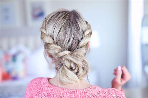 twist  messy bun cute girls hairstyles