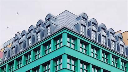 Architecture Building Facade Windows Corner Background 1080p
