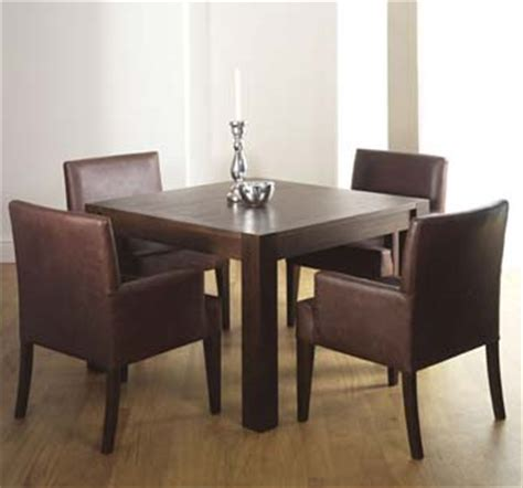 dining tables lyon walnut square dining table & 4 slatted