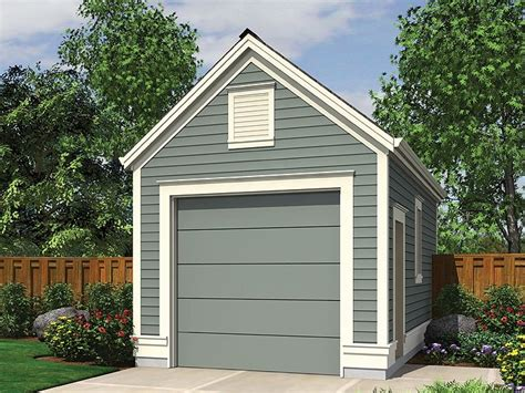 Onecar Garage Plans  Detached 1car Garage Plan # 034g