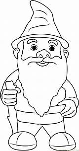 Gnome Coloring Gnomes Printable Beard Fluffy Malvorlagen Zwerge Ausdrucken Template Coloringpages101 Getcolorings Printables Cartoon Adults Templates Colors Gnomeo Detailed sketch template