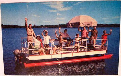 Old Pontoon Boat | Vintage Boating | Pinterest