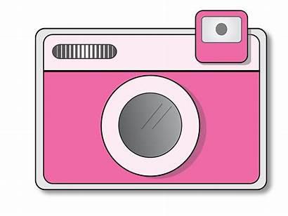 Camera Clip Clipart Pink Heart Cameras Kid