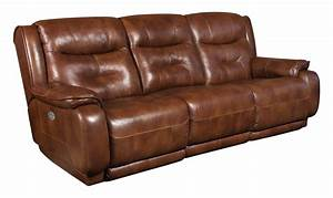 Southern motion crescent double reclining sofa with power for Sectional sofa with double recliner