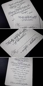 elegant victoria calligraphy letterpress wedding With letterpress wedding invitations victoria