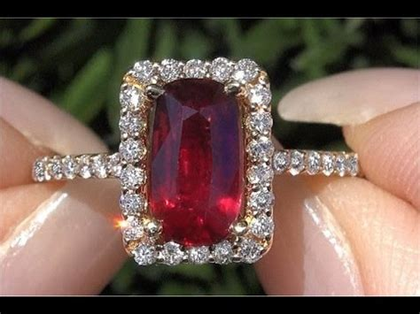 certified unheated natural vvs ruby 14k gold engagement ring c454 youtube