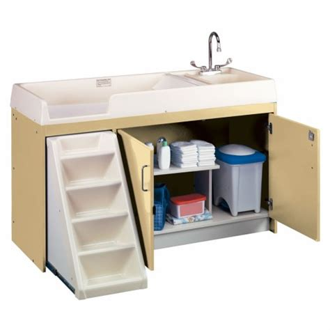 changing table stairs only walk up changing table w right sink left stairs natural
