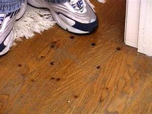 How to remove burn marks on a hardwood floor hgtv for How to repair water stains on hardwood floors