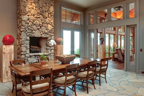 The Bricks In The Dining Room And Fireplace Remodeling