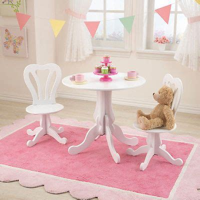 white girls kids drawing office desk table chair set tea