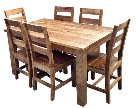 rustic dining table 6 chairs trade furniture company