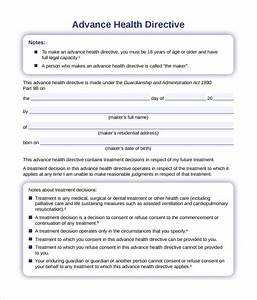 printable advance directive health care bing images With advance care plan template