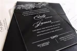 acrylic wedding invitations vine acrylic wedding invitation collection
