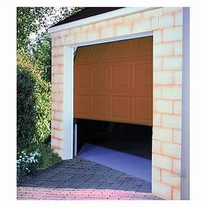 Porte de garage sectionnelle motorisee 200x300 cm chene for Porte de garage sectionnelle 200 300