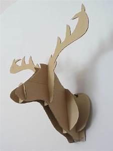 Renne En Carton : tuto et patron du renne en carton diy pinterest the christmas ray ban online and it is ~ Melissatoandfro.com Idées de Décoration