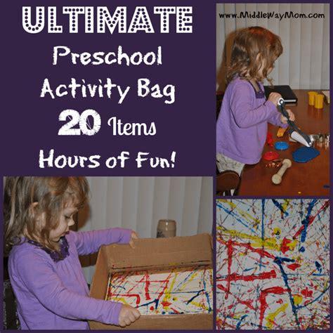 ultimate preschool activity bag 20 items hours of 131 | Preschool Activity Bag