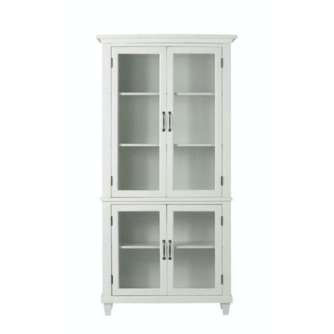 Door Bookcase by Home Decorators Collection Martin Ivory Glass Door