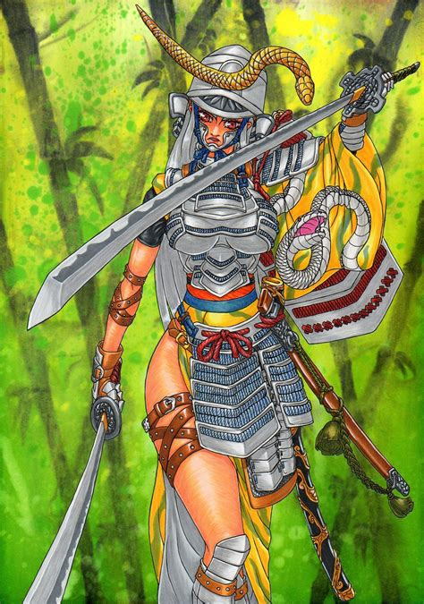 samurai snake by gunasyuu on deviantart
