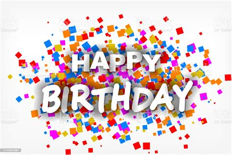 Happy Birthday Greeting Card Flyer Invitation Vector