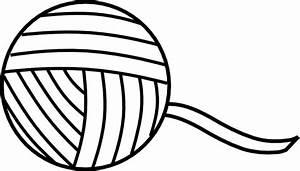 Ball Of Yarn Outline Clip Art at Clker.com - vector clip ...